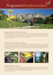 zum Wanderprogramm - Alpenrose