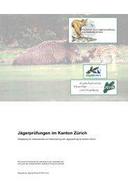 Wegleitung zur Jägerprüfung (PDF, 16 Seiten, 183 kB) - Amt für ...