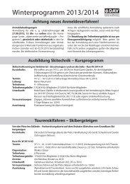 Winterprogramm 2013/2014 - Alpenverein-Aschaffenburg.de