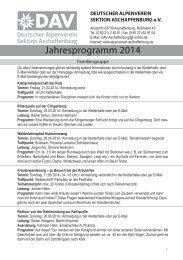 Jahresprogramm 2014 - Alpenverein-Aschaffenburg.de