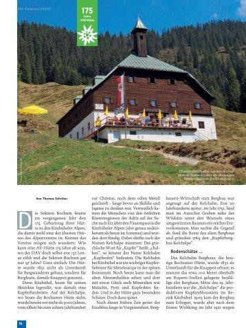 Bodenschätze ... - Deutscher Alpenverein