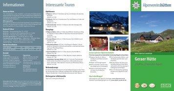 Geraer Huette_2013-RZ.indd - Deutscher Alpenverein