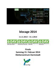 blocage 2014 - Deutscher Alpenverein