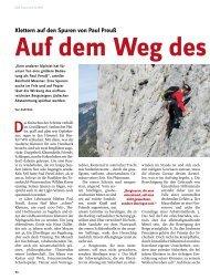 Klettern auf den Spuren von Paul Preuß - Deutscher Alpenverein