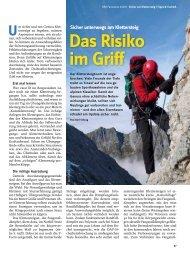 sicher unterwegs am Klettersteig - Deutscher Alpenverein