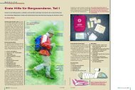 Erste Hilfe für Bergwanderer, Teil I