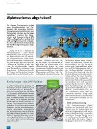 Alpintourismus abgehoben?