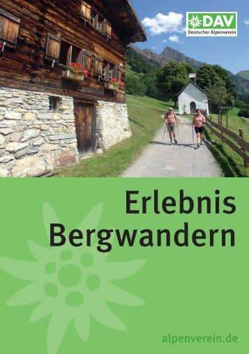 Erlebnis Bergwandern (PDF) - Deutscher Alpenverein