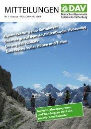 Mitteilungen 01-2014 - Alpenverein-Aschaffenburg.de