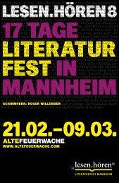 Programmheft - Alte Feuerwache Mannheim