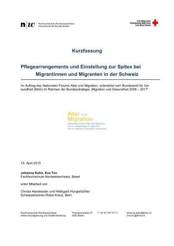 Kurzfassung (PDF) - Nationales Forum Alter und Migration