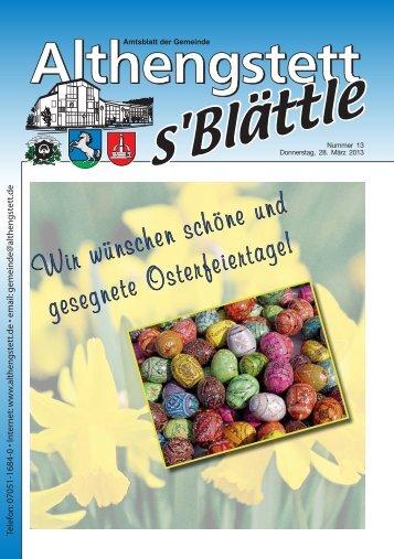 KW 13/2013 - Althengstett
