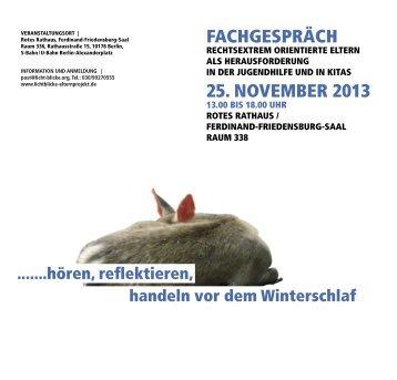FACHGESPRÄCH 25. NOVEMBER 2013 - Amadeu Antonio Stiftung