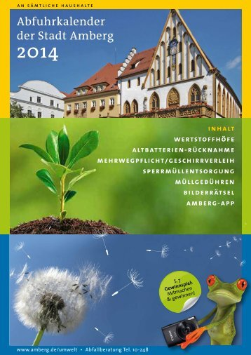 Abfallbroschüre 2014 - Stadt Amberg