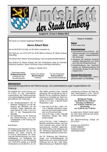 Amtsblatt 19-2013.pub - Stadt Amberg