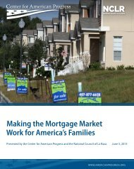 Making the Mortgage Market Work for America's Families