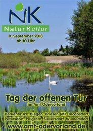 Natur-Kultur 2013 - Amt Odervorland