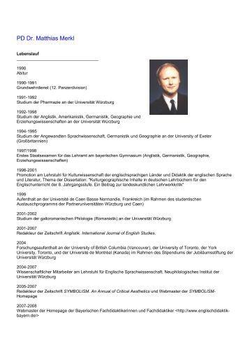 lebenslauf anglistik und amerikanistik universitt wrzburg