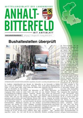 Ausgabe 5 vom 8. März 2013 - Landkreis Anhalt-Bitterfeld