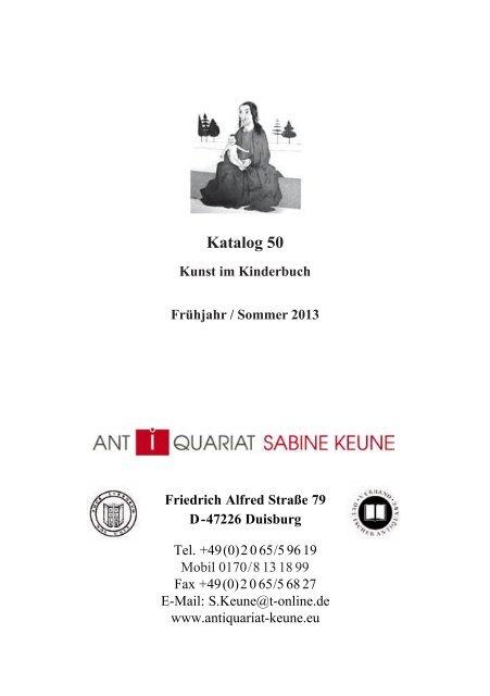 PDF-Datei - Antiquariat Sabine Keune