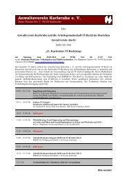Anmeldung/Informationen - Anwaltsverein Karlsruhe eV