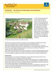 Arbeitsblatt - Das Kloster als Kulturträger des Abendlandes - Antolin