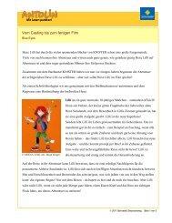 Blue Eyes: Vom Casting bis zum fertigen Film (PDF) - Antolin