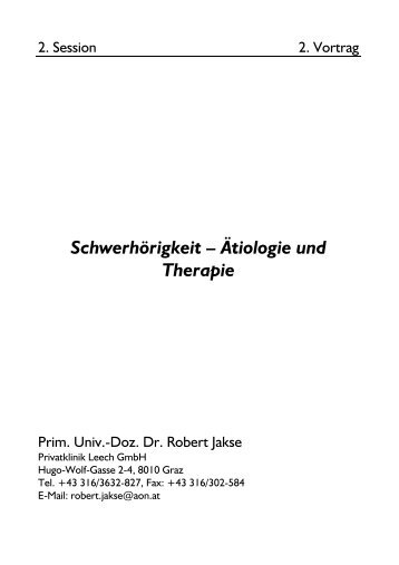 Schwerhörigkeit – Ätiologie und Therapie