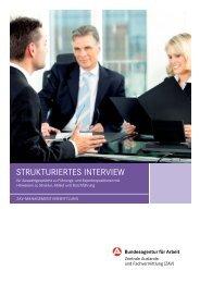 Strukturiertes Interview - Bundesagentur für Arbeit