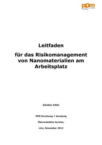 Leitfaden für das Risikomanagement beim ... - Arbeitsinspektion