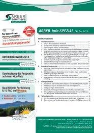 ARBER-Info SPEZIAL Oktober 2013 - ARBER|seminare