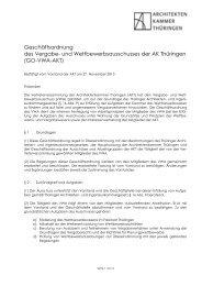 Geschäftsordnung des Vergabe- und Wettbewerbsausschusses der ...