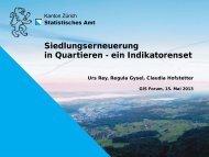 Siedlungserneuerung in Quartieren - ein Indikatorenset - Kanton Zürich