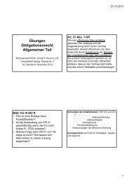 Folien, Sitzung Nr. 3 16. September 2013 - Rechtsanwalt PD Dr ...