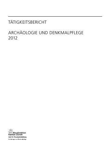 Taetigkeitsbericht 2012 - Amt für Raumentwicklung - Kanton Zürich