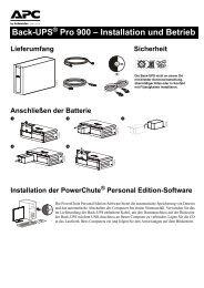 Back-UPS Pro 900 – Installation und Betrieb - ARP