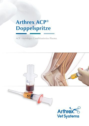 Arthrex ACP® Doppelspritze - Arthrex Vet Systems