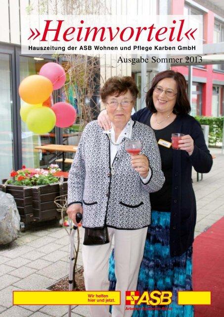 Ausgabe Sommer 2013 - Die ASB Wohnen und Pflege GmbH