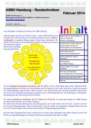 ASBH Hamburg – Rundschreiben Februar 2014