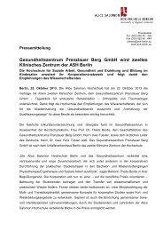 Pressemitteilung - Alice Salomon Hochschule Berlin