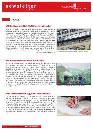 ASH Newsletter 4_2013.pdf - Alice Salomon Hochschule Berlin