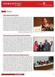ASH Newsletter 3_2013.pdf - Alice Salomon Hochschule Berlin