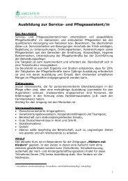 info Service und Pflegeassistenten Februar 2013 - Asklepios