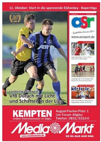 ASR Sport Ausgabe Oktober 2013 - Allgäu Sport Report