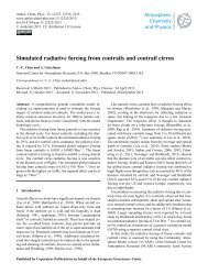 Simulated radiative forcing from contrails and contrail cirrus