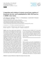 Composition and evolution of volcanic aerosol from eruptions of ...