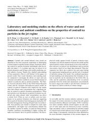 Laboratory and modeling studies on the effects of water and soot ...