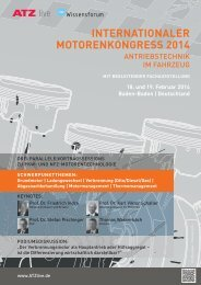 internationaler motorenkongress 2014 - ATZlive