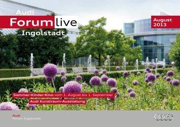 Monatsprogramm August 2013 - Audi