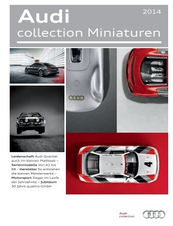 Audi collection Miniaturen Katalog 2014 (8 MB)